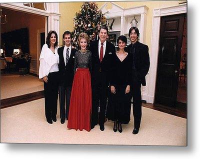The Reagan Family Christmas Portrait Metal Print by Everett