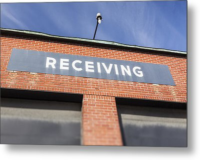 The Receiving Loading Bay In An Metal Print by Bryan Mullennix