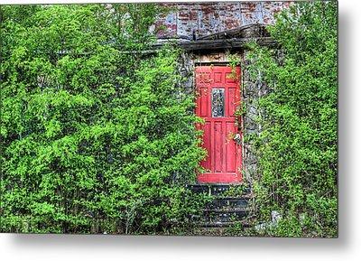 The Red Door Metal Print by JC Findley