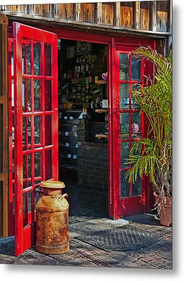 Metal Print featuring the photograph The Red Doors by Judy  Johnson