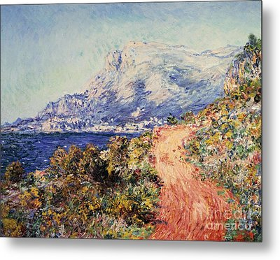 The Red Road Near Menton Metal Print by Claude Monet