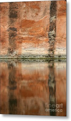 Metal Print featuring the photograph The Reflecting Wall by Nola Lee Kelsey
