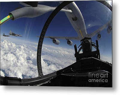 The Refueling Boom From A Kc-135 Metal Print by Stocktrek Images
