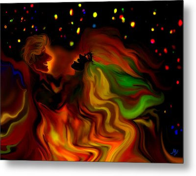 The Revellers Metal Print by Mathilde Vhargon