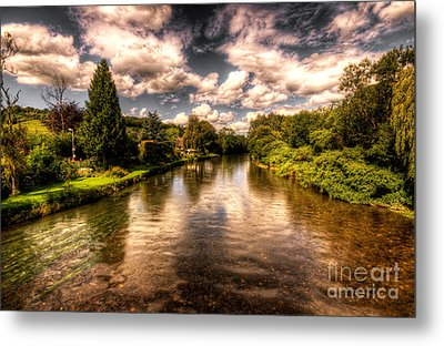 The River Exe At Bickleigh Metal Print by Rob Hawkins