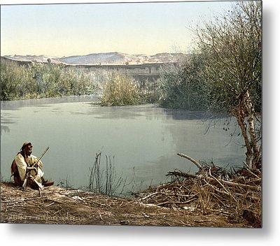 The River Jordan, Holy Land, Jordan Metal Print by Everett