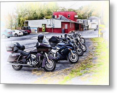 The Riverside Barr And Grill - Easton Pa Metal Print by Bill Cannon