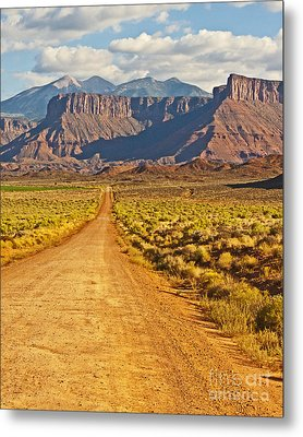 The Road Beckons Metal Print by Bob and Nancy Kendrick