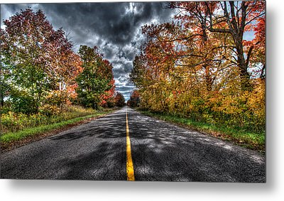 The Road Less Travelled Metal Print by Jeff Smith