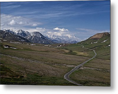 The Road To The Great One Metal Print by Wes and Dotty Weber
