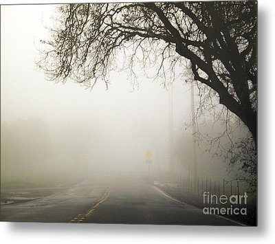 Metal Print featuring the photograph The Road To Work by Leslie Hunziker