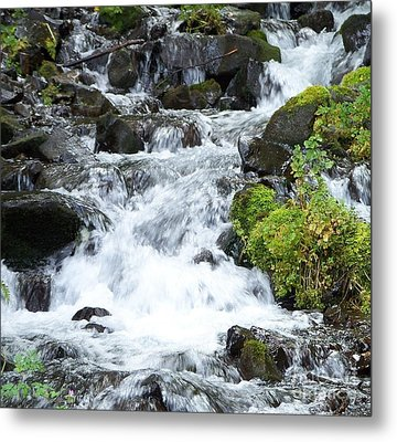 Metal Print featuring the photograph The Roadside Stream by Chalet Roome-Rigdon
