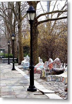 Metal Print featuring the photograph The Rolling Bench by Anne Raczkowski