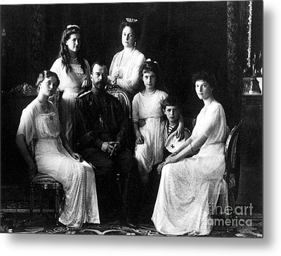 The Romanovs, Russian Tsar With Family Metal Print by Science Source
