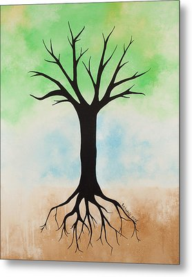 The Root Metal Print by Jodi Leigh