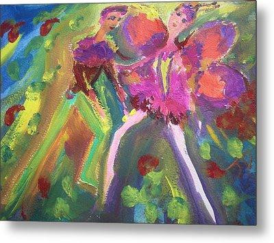 The Rose And The Butterfly Metal Print by Judith Desrosiers