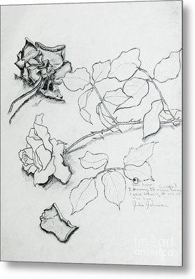 The Rose Metal Print