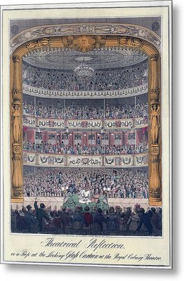 The Royal Coburg Theatre And Audience Metal Print by Everett