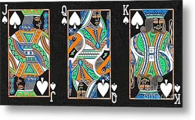 The Royal Spade Family Metal Print by Wingsdomain Art and Photography