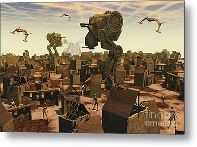 The Ruins Of An Earth Type Environment Metal Print by Mark Stevenson