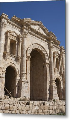 The Ruins Of The Ancient City Of Jerash Metal Print by Taylor S. Kennedy