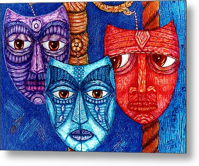 The Sadness The Mistrust And The Fatigue Metal Print by Madalena Lobao-Tello