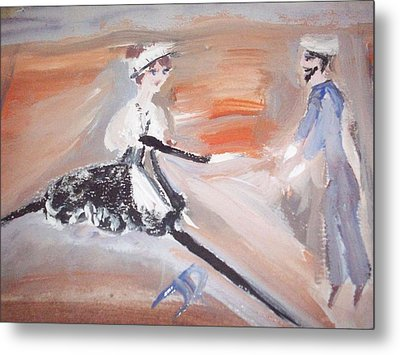The Sailor And The French Maid Metal Print by Judith Desrosiers