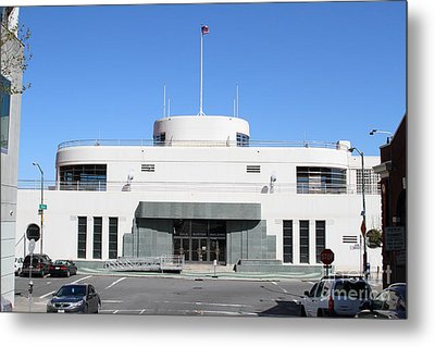The Sala Burton Building . Maritime Museum . San Francisco California . 7d14087 Metal Print by Wingsdomain Art and Photography