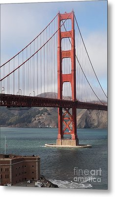The San Francisco Golden Gate Bridge - 5d18911 Metal Print by Wingsdomain Art and Photography