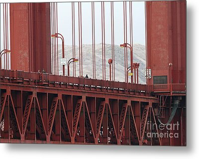 The San Francisco Golden Gate Bridge - 7d19060 Metal Print by Wingsdomain Art and Photography