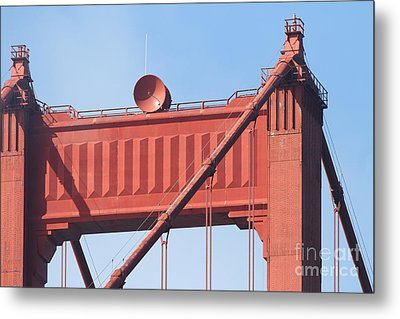 The San Francisco Golden Gate Bridge - 7d19108 Metal Print by Wingsdomain Art and Photography