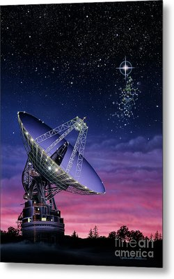 The Search For Extraterrestrial Intelligence Metal Print by Lynette Cook