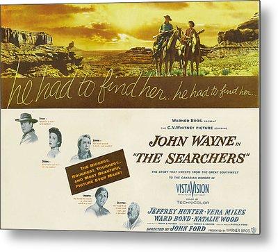 The Searchers, John Wayne, Natalie Metal Print