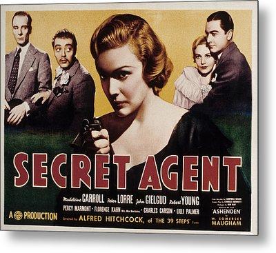 The Secret Agent, John Gielgud, Peter Metal Print by Everett