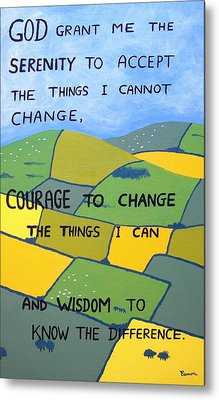 The Serenity Prayer Metal Print by Eamon Reilly