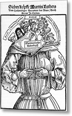 The Seven Heads Of Martin Luther Metal Print by Everett
