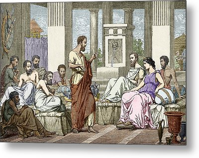 The Seven Sages Of Greece, 7th Century Bc Metal Print by Sheila Terry