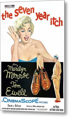 The Seven Year Itch, Marilyn Monroe Metal Print by Everett