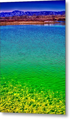 The Shallow End Of Eaglewatch Lake Metal Print by David Patterson