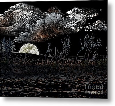 Metal Print featuring the digital art The Sky Is Low by Rhonda Strickland
