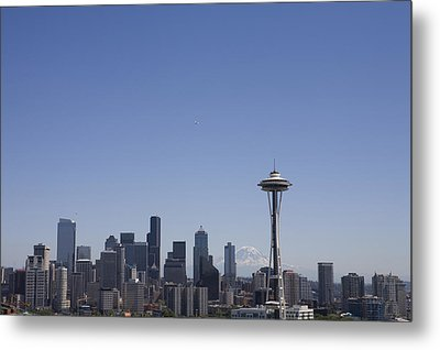 The Skyline Of Seattle On A Sunny Metal Print by Taylor S. Kennedy