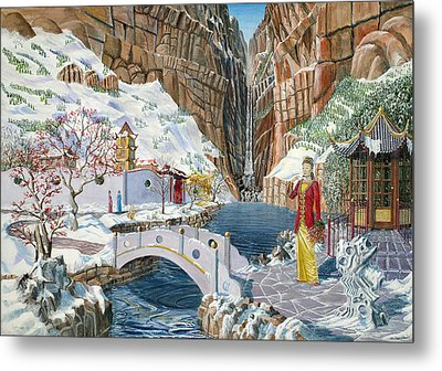 The Snow Princess Metal Print