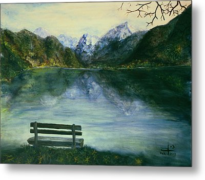 Metal Print featuring the painting The Sound Of Silence by Itzhak Richter