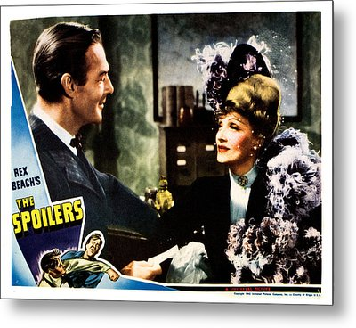 The Spoilers, From Left Randolph Scott Metal Print by Everett