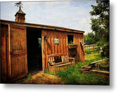 The Stable Metal Print by Paul Ward