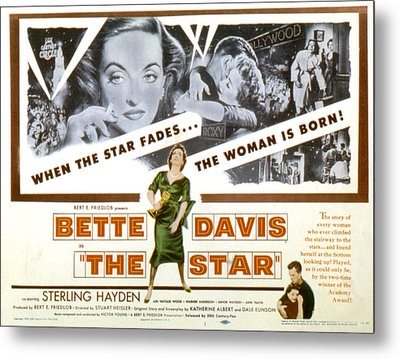 The Star, Bette Davis, Sterling Hayden Metal Print by Everett