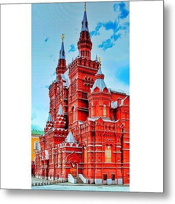 The State Historical Museum (russian: Metal Print by Tommy Tjahjono