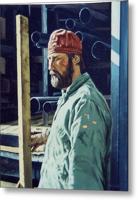 The Steamfitter  Metal Print by James Guentner