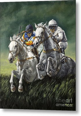 The Steeplechase Metal Print by Thomas Allen Pauly