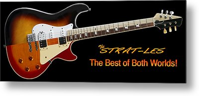 The Strat Les Guitar Metal Print
